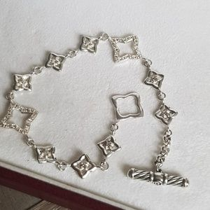 David Yurman Quatrefoil Diamond Bracelet